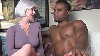 Sexy blonde wife can't get enough of her first BBC