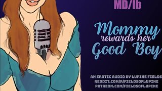 MD/lb - Mommy Rewards Her Good Boy With A Sloppy Blowjob - EROTIC AUDIO RP