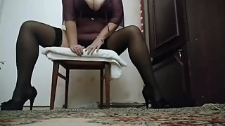 Playing with hot pussy. BBW women
