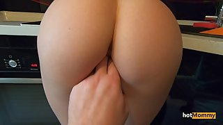 My stepMom so pissed me off i fucked her ass and cum in pussy