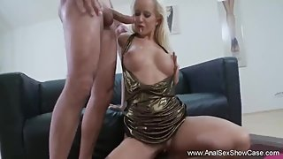 European Blonde Will Only Take Anal