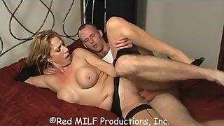 Rachel Steele MILF605 - step mom is wearing nude stocking waiting for Son