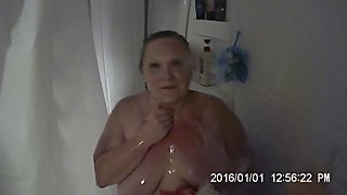 hot milf in the shower getting all wet