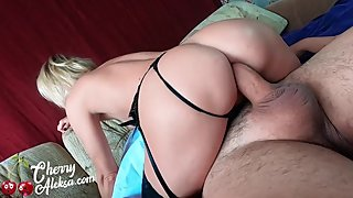 Big Booty Cherry Aleksa Deepthroat and Hard Anal Sex in the red dress