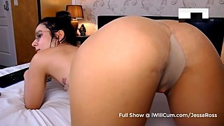 Shy Big Butt Nerd Teen in Stockings Watnts You To Watch Her Squirt Pt 1