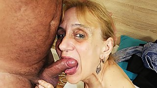 extreme ugly 84 years old mom deep fucked