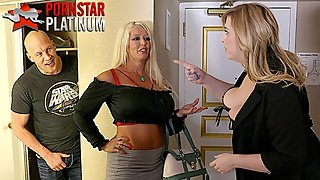 MILFs Alura Jenson and Lila Lovely fucking a fan