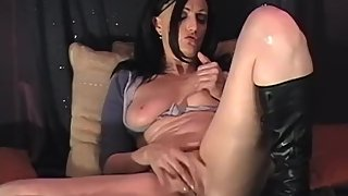First time amateur MILF masturbating with toys