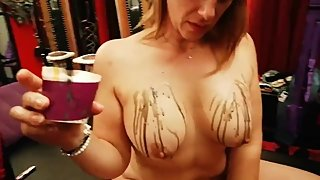 Many asked to see me playing with candles on my boobs... enjoy it :)