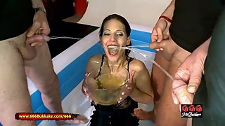 Hardcore Pissing gangbang for Legend Viktoria - 666Bukakke