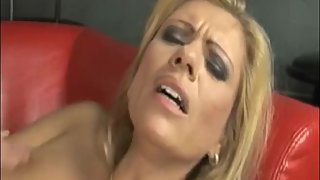 Glorious MILF takes on her husband cock with her huge boobs