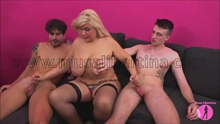 Porn Casting - testing 2 hard young dicks