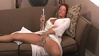 Rachel Steele MILF39 - Alone in the office Masturbation