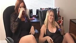 Rachel Steele CustomGrazer - 2 MILF Wrestling in the office!