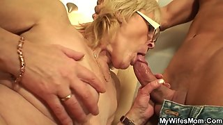 My wife's mother is old horny bitch!