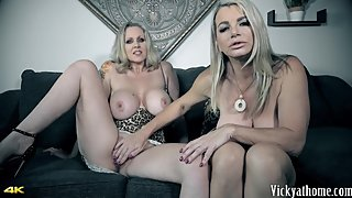 **NEW** Hall of Fame Jerk Off Instructions! Busty Vicky Vette & Julia Ann!