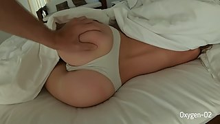 Juicy creampie. Morning sex from a pair of Oxygen-O2.