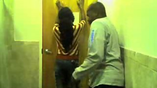 Don spanks Jerrica in the bathroom for skipping school