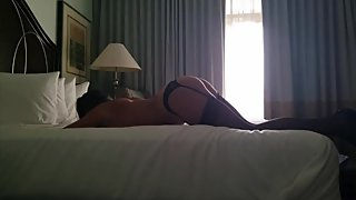 Big ass wife in stockings doggystyle