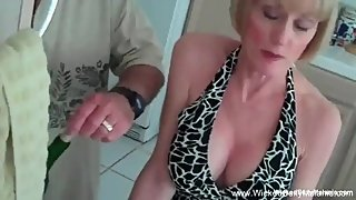 3some For Horny Blonde Amateur GILF