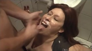 Filthy Big Tit Slag Gets Fucked in Pub Toilets