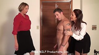 Rachel Steele CustomDavidM01 - Two MILF draining big muscular cub