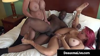 Busty Horny Cougar Deauxma & Whitney Wonders Do Big Black ?