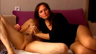 Stepson with very big cock convinced his sexy stepmom to fuck
