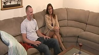 Rachel Steele MILF536 - Mom comes home tired nude stocking fucks stepson