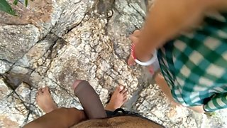 Risky Public Outdoor Sex With Stepsister Near Flowing River ??? ?? ?????