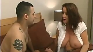 Taboo! Horny stepmom with big tits likes to be good pounded by her stepson