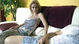 Wow! Stepson with big cock cums inside his wife and busty stepmom