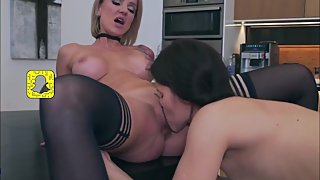 Teen Daughter Eating Stepmoms Hungry Cunt [HD]