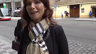 Mature american MILF used hard by lucky stranger in Prague for the money