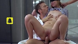 Sensual Blindfolded Anal Threesome [HD]