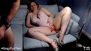 Watching Naughty America Porn while Camming on Chaturbate -- Amateur Couple