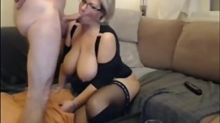 Busty and horny mature MILF used hard by her new boss on vacation