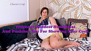 Pregnant Goddess Humiliates and Punishes You For Showing Dick