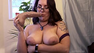 FREE PREVIEW Super Sloppy Dildo BJ