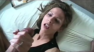 Stepson with very big cock fucks hard his horny mature stepmom in the ass