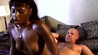 Interracial 3some With First Time Swinger Ebony MILF
