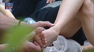 Aida Yespica feet and soles big brother vip italy!