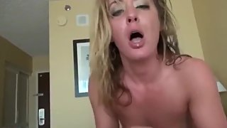 Shameless mature stepmom loves her stepson's big cock in ALL holes