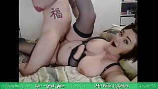 Ms. Vixen gets a big cock sideways