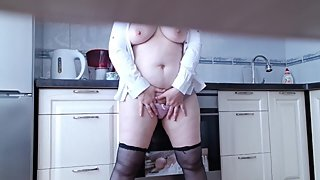 Horny Step mom in the kitchen